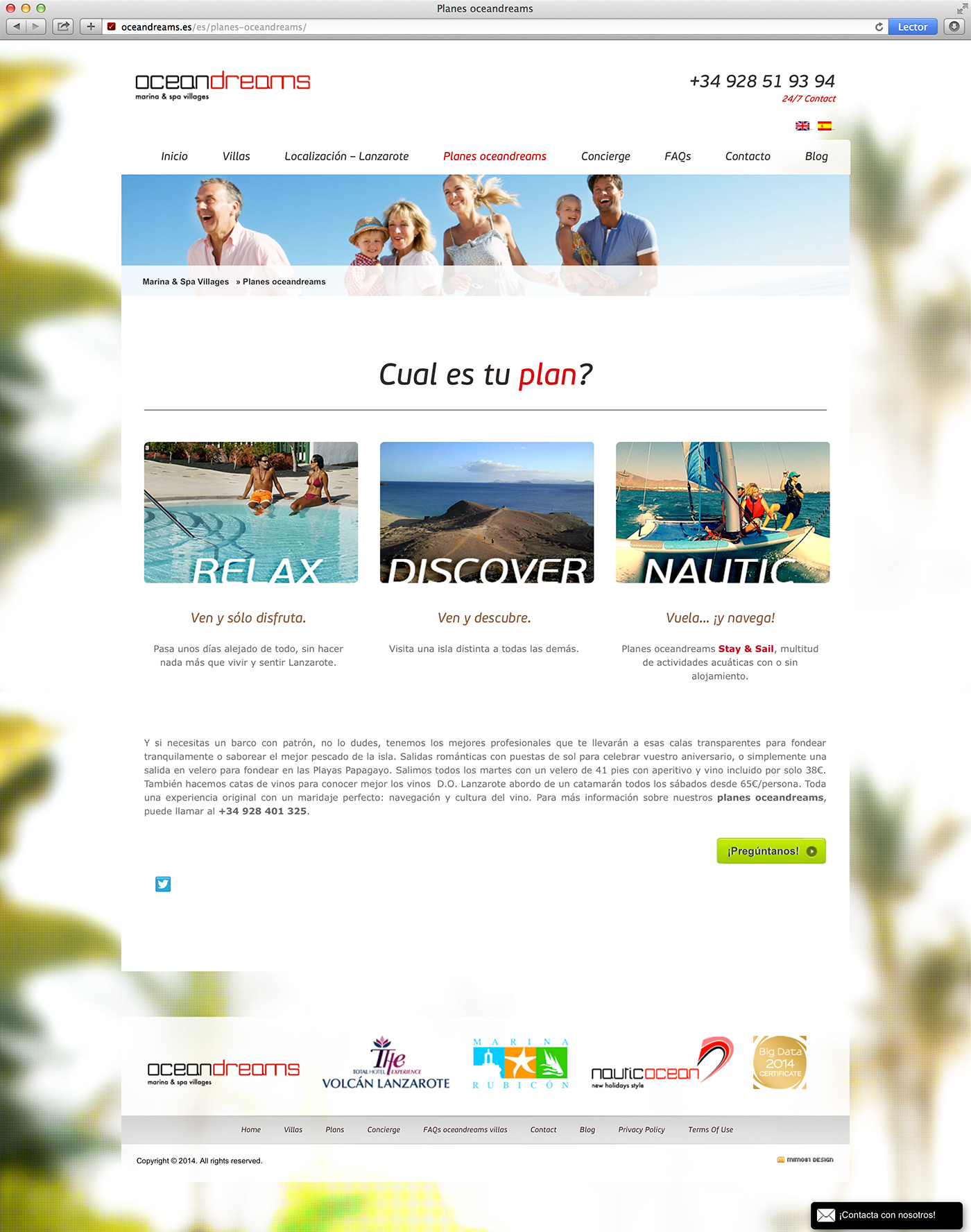 diseño booking web