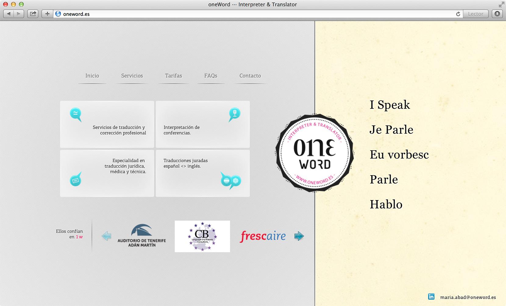 web traducion interpretacion