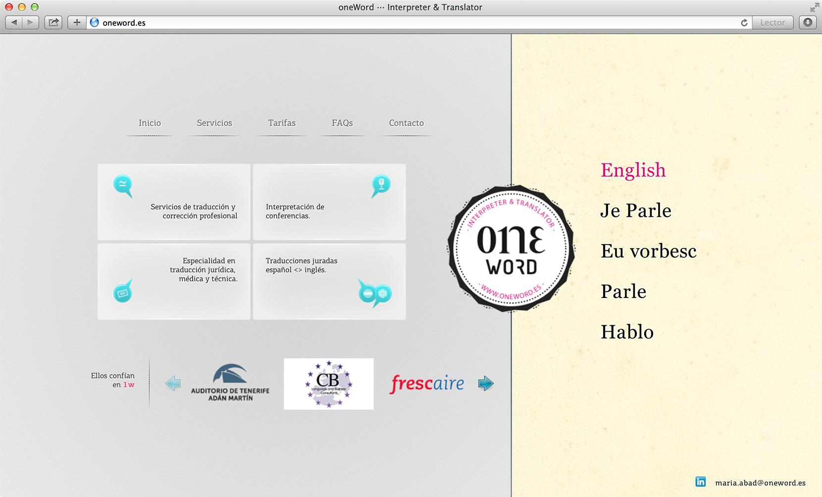 web interprete traductora