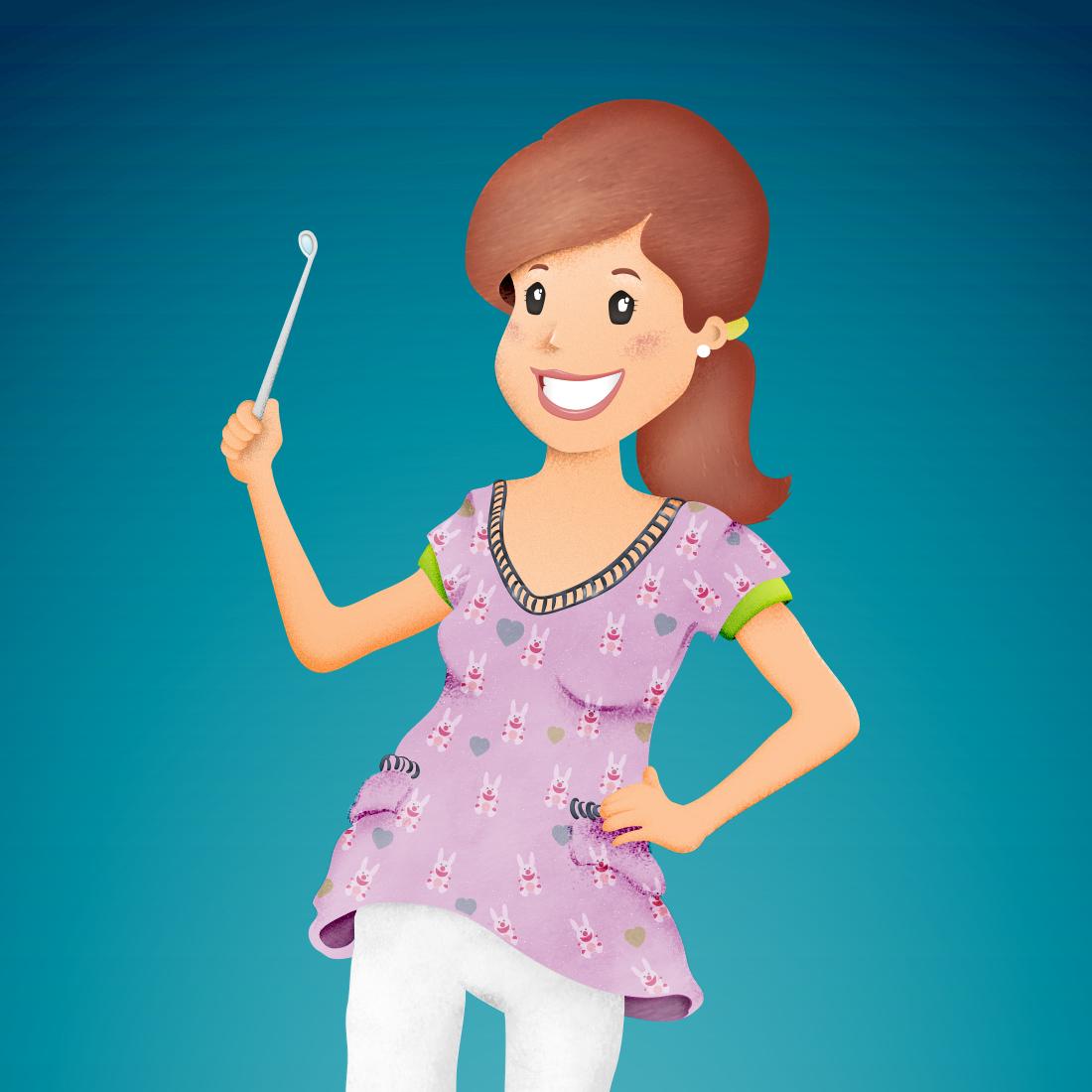 Ilustración Dentista