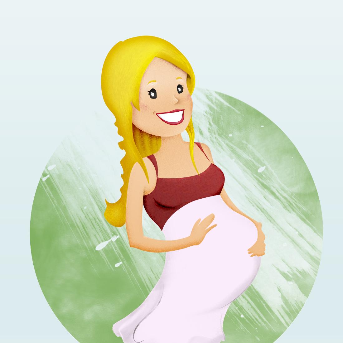 Ilustración embarazada
