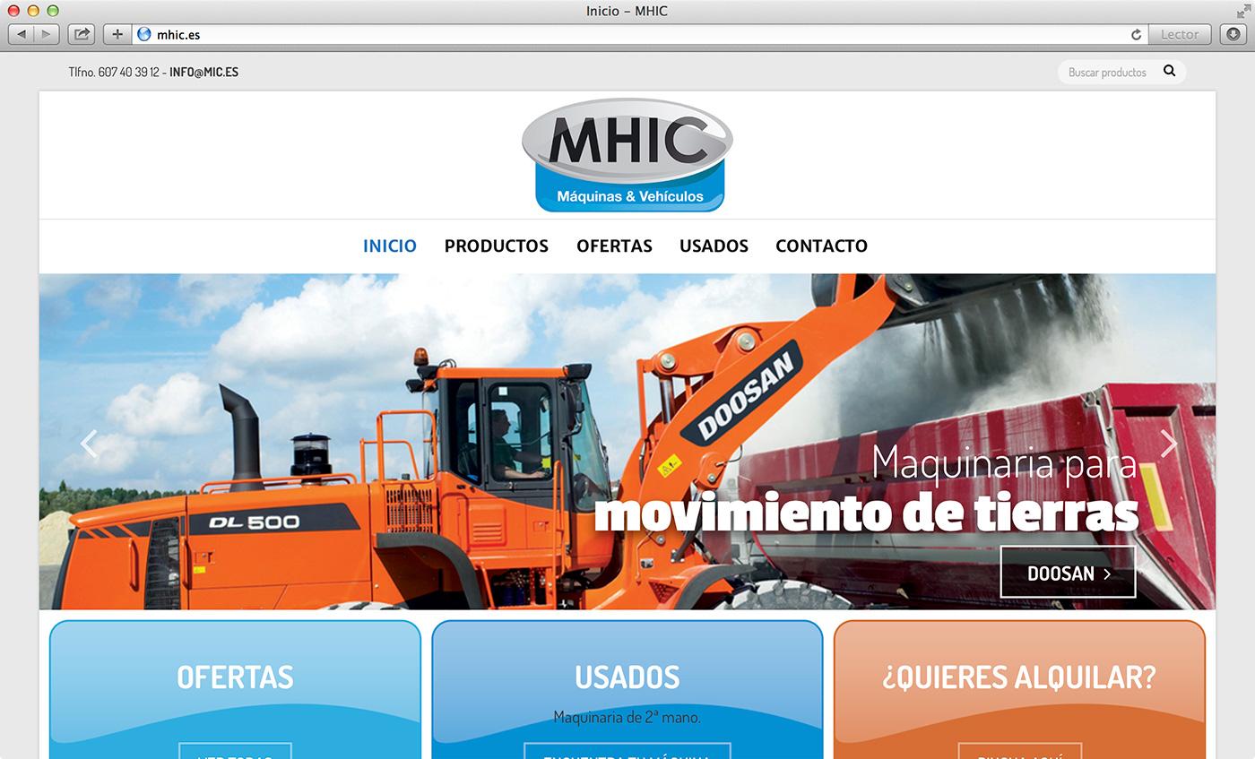 Web catálogo maquinaria